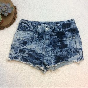 Mossimo High Rise Shorts | Acid Wash | Junior